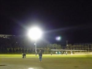 大賀郷中学校運動場夜間照明設備完成
