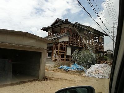 2階まで浸水被害を受けた住宅