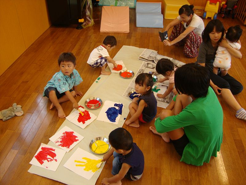 子ども家庭支援センター 9/16催し「運動会準備」